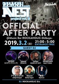 """Zephyren presents A.V.E.S.T project Vol.13 OFFICIAL AFTER PARTY"""