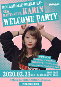 ROCKAHOLIC-Shinjuku- NEW BARTENDER KARIN WELCOME PARTY