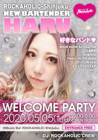 ROCKAHOLIC-Shinjuku- NEW BARTENDER ハル WELCOME PARTY